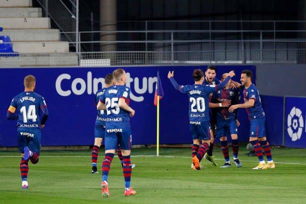 La SD Huesca, a punto de conseguir su mejor racha en tres años