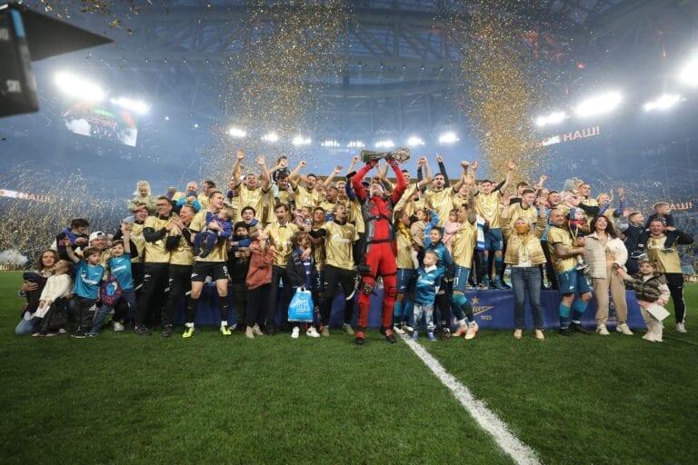 El Zenit, campeón de la liga rusa por tercer año consecutivo